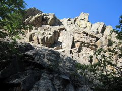 Rock Climbing Photo: Jason Haas leading the unknown Free Roof in April ...