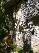 Rock Climbing Photo: The start of Perfodactyle. You can see the first q...