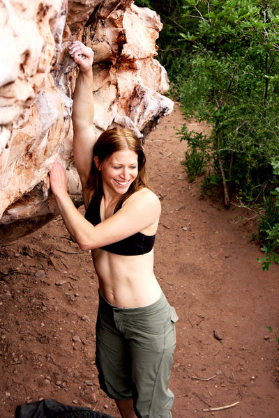 Rock Climbing Photo: My babe getting some rest before hopping on the Tr...