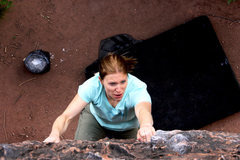Rock Climbing Photo: Courtney makin it happen on the Mongoose Block.