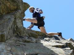 Rock Climbing Photo: So jump already.