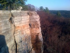 Rock Climbing Photo: Golden Dream at Peter's Kill - November 2011