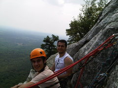 Rock Climbing Photo: Me and Decio at the top of our first multipitch, L...