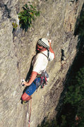 Rock Climbing Photo: Opting for the thinner direct finish to Spock's Br...