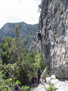 Rock Climbing Photo: John Ross climbing the choss.