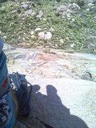 Rock Climbing Photo: Top of P1 on Leonids