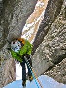 Rock Climbing Photo: Start of the Rappel.