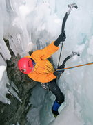 Rock Climbing Photo: Rolf exiting the cave onto belay 'shroom.