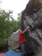 Rock Climbing Photo: Vince on the start holds. No action shots, we were...