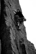 Rock Climbing Photo: One of my first lead climbs.  6a at Chongkurchak.