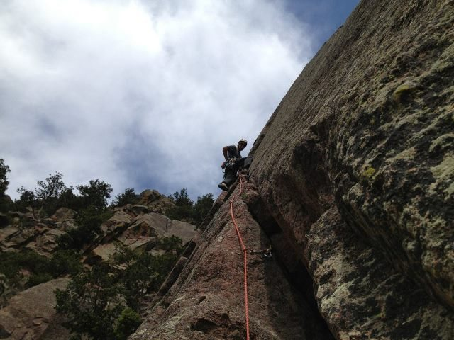 Rock Climbing Photo: Yours truly leading the 2nd pitch.