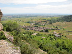 Rock Climbing Photo: The small village of Solutré. In the foreground y...