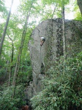 Rock Climbing Photo: Champagne Jam on rope
