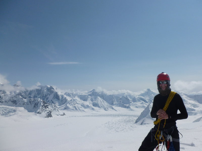 This is me standing on top of an east ridge of Mt. Foraker.