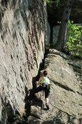 Rock Climbing Photo: tegan starting up