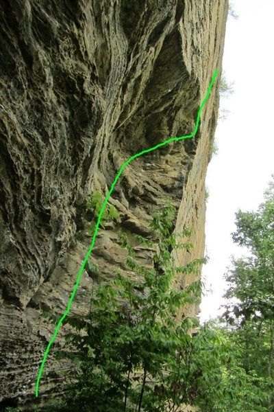 Rock Climbing Photo: This is the line... sooooo fun!