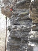 Rock Climbing Photo: Ron Funderburke on Old Crow