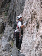 Rock Climbing Photo: Jay Shotwell keeping his balance on pitch 3.
