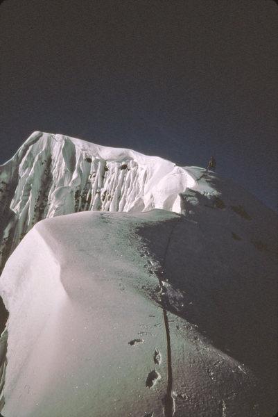Rock Climbing Photo: Dave Koch nearing the summit 1984 via north Face r...