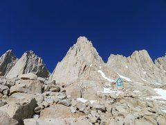 Rock Climbing Photo: trail up ledges leads to Mountaineers Route chute