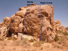 Rock Climbing Photo: Brian's Crag-North Shoulder, Windy Corner