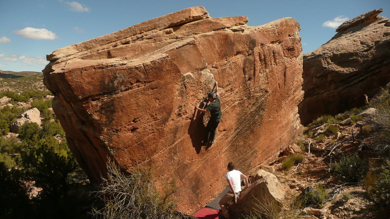 Rock Climbing Photo: Aaron White on Anything But Bland, Blanding boulde...