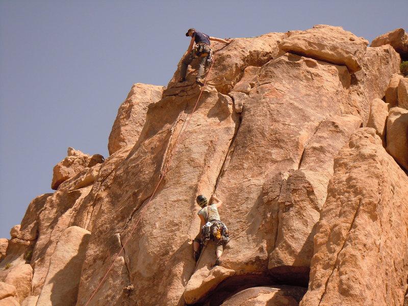 Rock Climbing Photo: Climbing unknown climbs at Brian's Crag