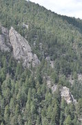 Rock Climbing Photo: The Lost Flatiron as seen from the Blob Rock appro...
