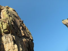 Rock Climbing Photo: The view from the belay at the base of Wide Countr...