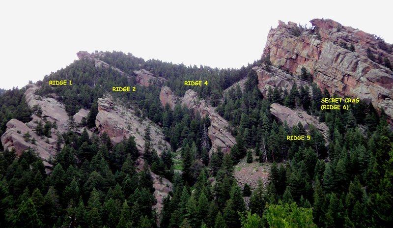 Rock Climbing Photo: Ridge numbering on this website.