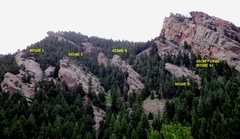 Rock Climbing Photo: Ridge numbering on this website.
