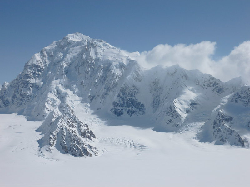 View of the west ridge of Mt. Hunter. This was taken from atop a ridge of Mt. Foraker.