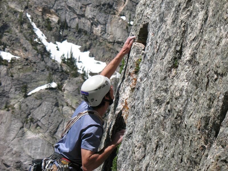 Rock Climbing Photo: Cruxing on the Snazette. Photo: Nathan Furman.