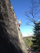 Rock Climbing Photo: Leading Wheaties at Eagles Bluff