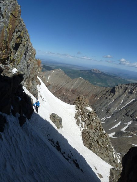 On the fox traverse El Diente<br> Photo:Abe