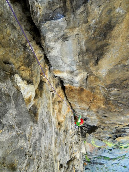 The overhanging second pitch.