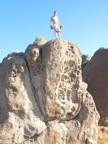 Rock Climbing Photo: austin george FA swiss cheese