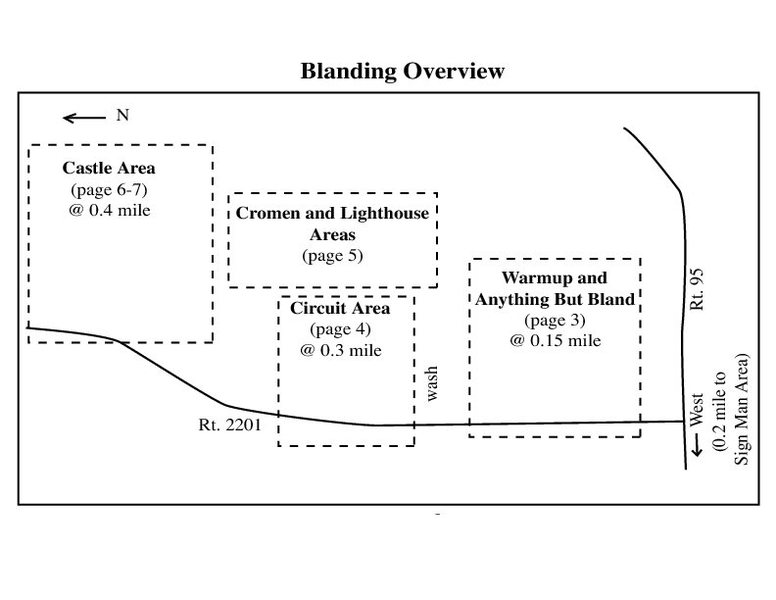 Blanding Boulder Overview from Mike A. Farnsworth's Mini guide.