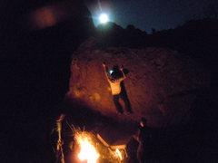 Rock Climbing Photo: the cube on a nice night