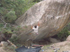 Rock Climbing Photo: Nate Brun at For Lease Canyon ut v12