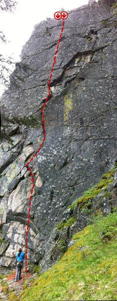 Rock Climbing Photo: GenX topo