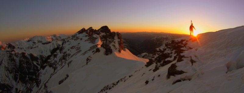 sunrise on Pyramid Peak<br> photo copyright Jordan White
