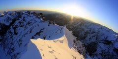 Rock Climbing Photo: working up the NE ridge on Pyramid photo copyright...