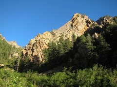 Rock Climbing Photo: Patty's Ridge from near the creekbed coming down f...