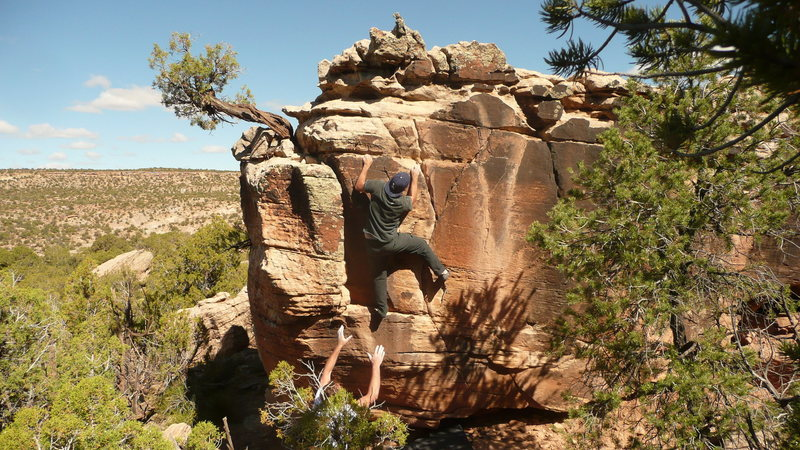 Rock Climbing Photo: Y Not, Blanding boulders V4