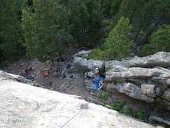 Rock Climbing Photo: Chicken Delight from halfway up.