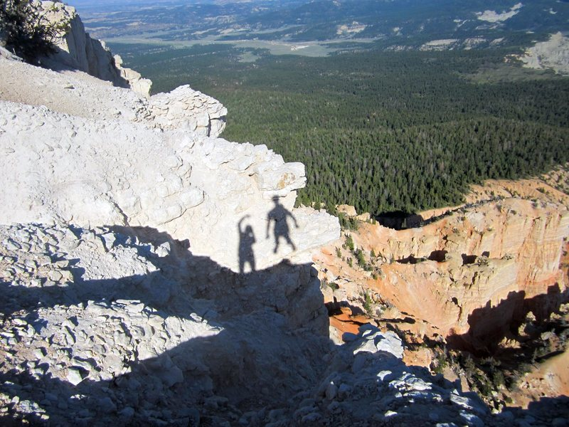 Rock Climbing Photo: The shadow people LOVED visiting Powell Point on t...