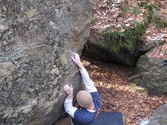 Rock Climbing Photo: Crux move latched