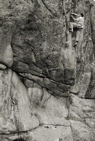 Rock Climbing Photo: Ted Lanzano on Sinopia.