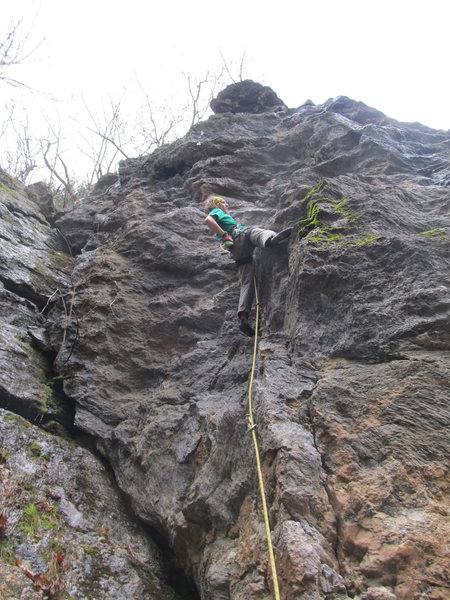 Rock Climbing Photo: Tim doing another lap on this awesome route!